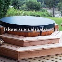 Round Tapered Insulated Spa Cover Hot
