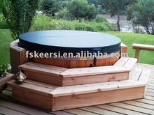 Round tapered insulated spa cover/hot tub cover