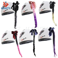 Trade Assurance Punk Style Motorcycle Helmet Decoration Braid Pigtail FUR Helmet Mohawks for Snowmobile ATV BMX Bikes