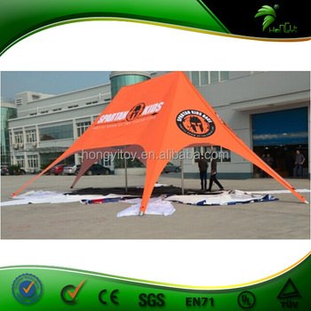 Aluminum Pole Material Star Shaped Tent Advertising Cheap Promotion Star Tent Double Star Tent