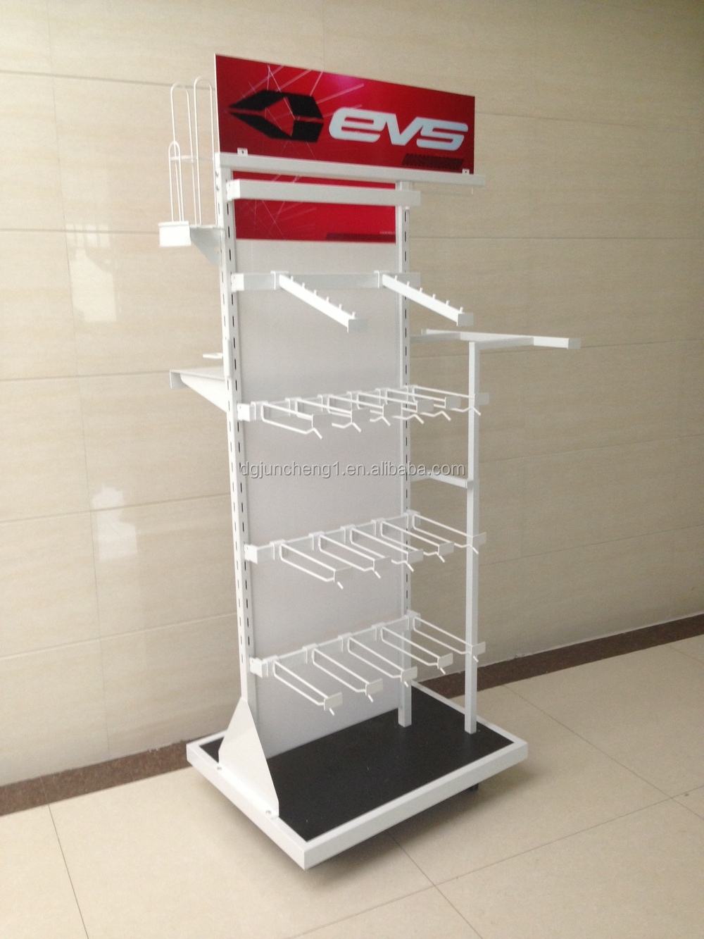 Wire and metal retail display, supermarket racks, pallet racks, hook ...