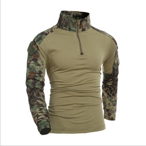 OME Custom Tactical Mens Camouflage Outdoor Camping military combat suits T shirt