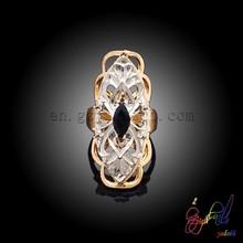 African fashion stone ring Black stone party ring Favorable ladies ring