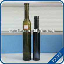 2013 HOT 375ml tea color red wine glass bottle of high quality with cork lid