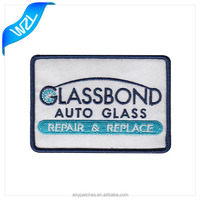 Glass bond brand logo embroidery patches for accessory