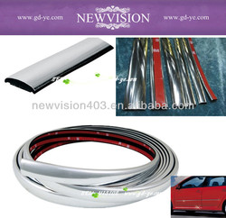 Silver chrome auto accessories for car protection window guard