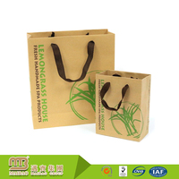 Factory Price Oem/Odm Production Recycling Brown Kraft Material Paper Bags With Strong Handles