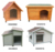 Wholesale wooden dog house cat kennel house for indoor and outdoor