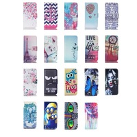 Cute Flip Leather Bags Wallet Stand Holder TPU Case With ID Card Slot Cover For touch 5G 6G 5th 6th
