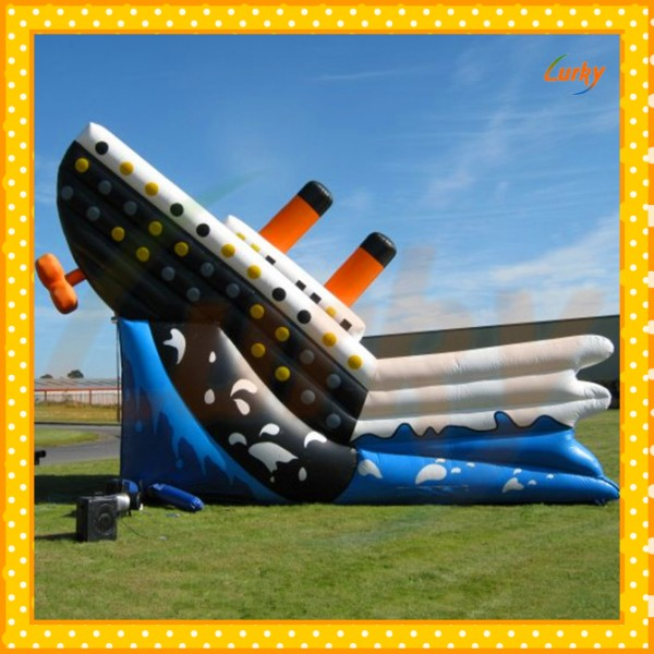 Exciting magic <strong>inflatable</strong> slide for sales/popular giant slide <strong>inflatable</strong> for kids/commercial titanic <strong>inflatable</strong> slide