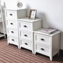 Modern design paulownia white storage cabinets antique bedside table Organize ark