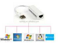 USB 2.0 to Ethernet RJ45 Network Lan Adapter usb data cable manufacture