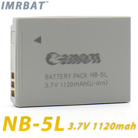 Digital camera battery pack NB-5L 3.7v 1120mah for SX230 SX220 SX200 SX210 IXUS 990 980 rechargeable battery li-ion