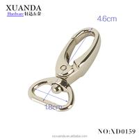 18mm oval ring swivel clasp metal hook for bag
