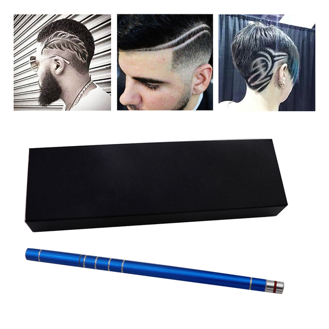 Razor Pen for Hair Design Barber Razor Pen Blades Professional Art Cut Salon Magic Engraved Sharp Pen Tweezers DIY Hair Styling