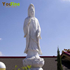 White Stone Buddha Marble Kuanyin Statue For Sale