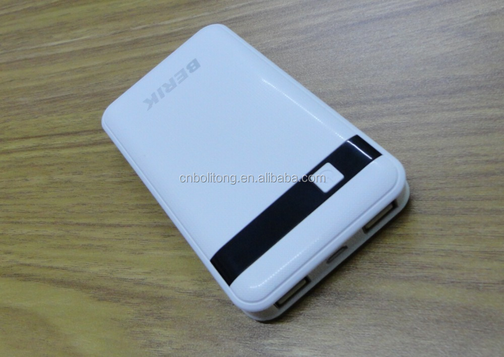 New hot product for 2016 White Color Universal Portable Mobile Power Bank 8000mah External Battery phone Charger