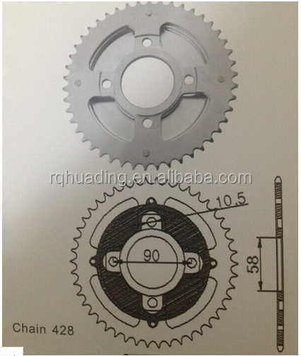 Motorcycle Parts Motorcycle Rear Sprocket (GLPRO NEO)