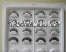 aliexpress china on line buy website 100% human hair strip eyelashes remy hair false eyelashes