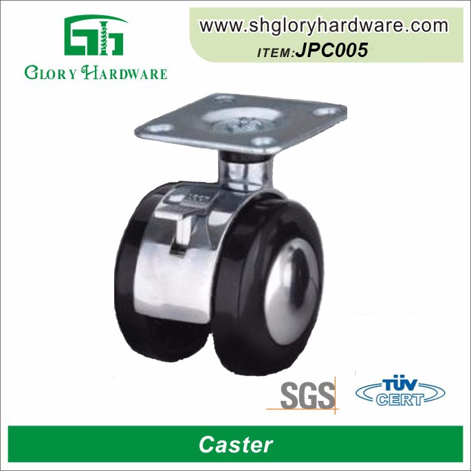 Decorative Nylon Durable Small High Performance Swivel Screw In Caster