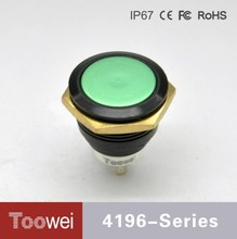 Toowei Good Quality Low Price 19MM Button Switch IP67 emergency stop push button switches