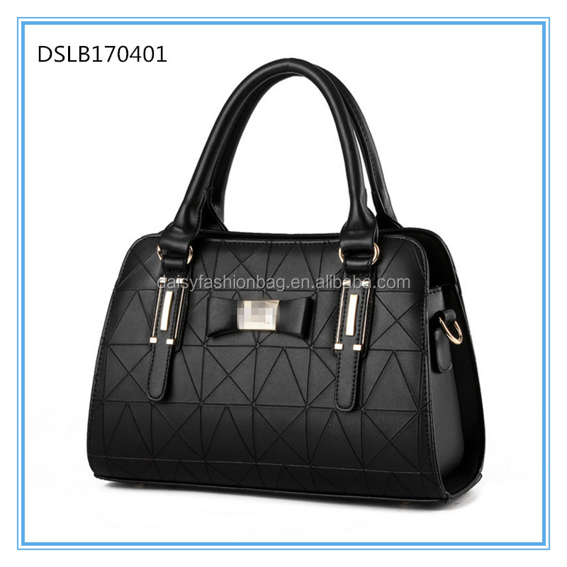 Yiwu agent factory New arrival hot sale Wholesale PU leather fashion lady handbag, fashion women handbag