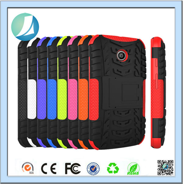 Hot Bumper Holder Rugget Robot Case For Motorola Moto E