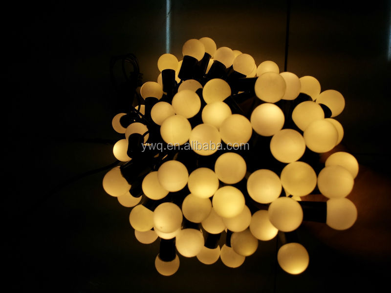 10m100led round bulb string light warm white christmas light pearl christmas lights