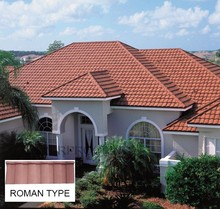 [Factory direct roofing shingle] roman steel roof tile,metal roofing tile made in China