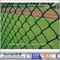 PVC coated green wire mesh fence sports chain link fence