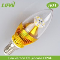 new led candle light SMD 4W 5W dimmable E12 E14 450lm