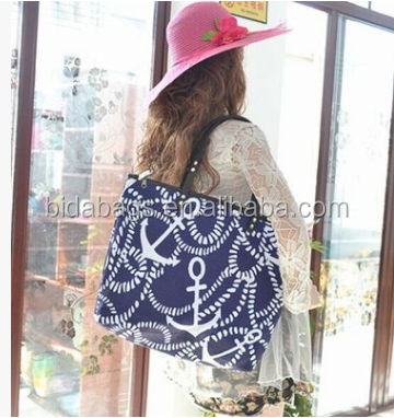 Printed pattern pirates beach bag bag charm taste the production of new technology