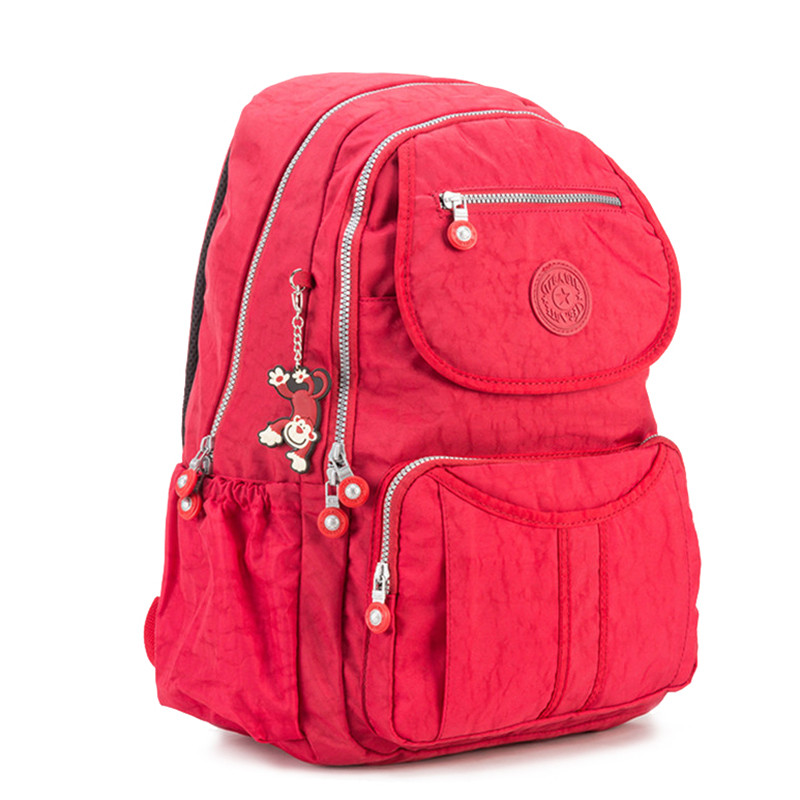 RY1235 School Backpack for Teenage Girls Mochila Feminine Backpacks Women Solid Famous Nylon Casual Laptop Backpack