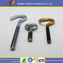 Stainless steel welded eye bolt,eye screw with plastic sleeve closed
