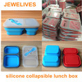 Kitchen promotional items recyclable silicone bento box