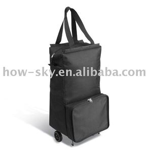 Insulated Wine/Food/Drink Tote Bag Rolling Lunch Ice Trolley