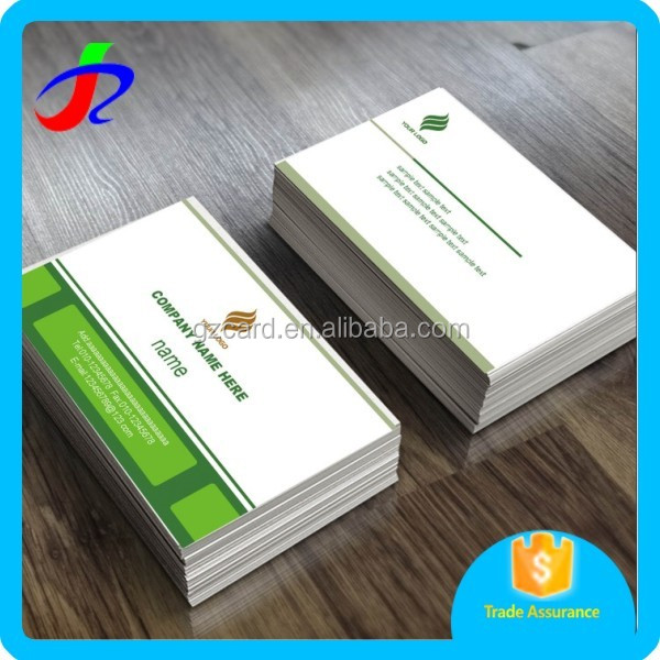 full color logo design fashion business card with double sided printing