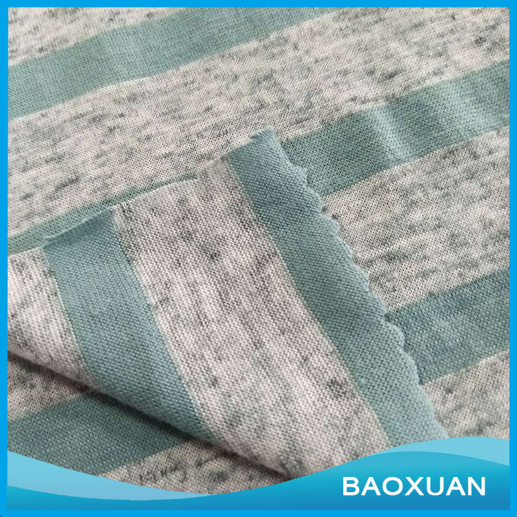 Single Jersey Cotton Fabric For Sports Basketball polyester linen Jersey Fabric
