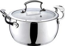 Stainless Steel Casserole indian fissler pressure cooker
