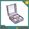 Tonvic Factory Quality Leather Watch Boxes Jewelry Storage Box For Mens