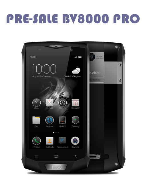 PRE-SALE 2017 latest unlocked Blackview BV8000 Pro 6GB 64GB 4180mAh 5.0 inch Android 7.0 MTK6757 Octa Core 3g 4g 5g mobile phone
