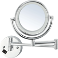 Wall mounted round mirror with led light for sale
