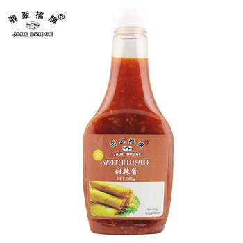 560g Squeeze Bottle Plastic Sweet Chili Sauce For Spring Roll