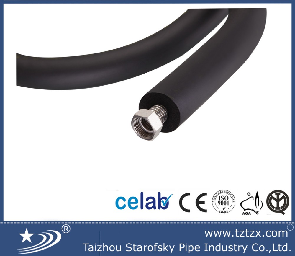 stainless steel solar pre insulation corrugated hose/pipe