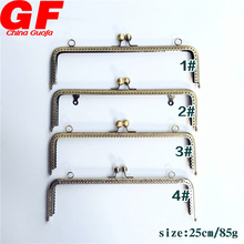 wholesale Simple Purse Bag Metal Frame Kiss Clasp Lock Handle Frame