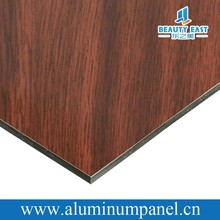 2015 modern exterior wall cladding building materials with wood polyester coating