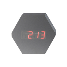 Home Digital LED Stand Table Wooden Alarm Clock for Hotel
