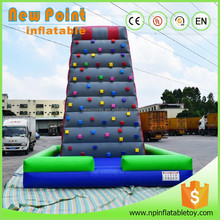 High quality inflatable water rock climbing wall for fun