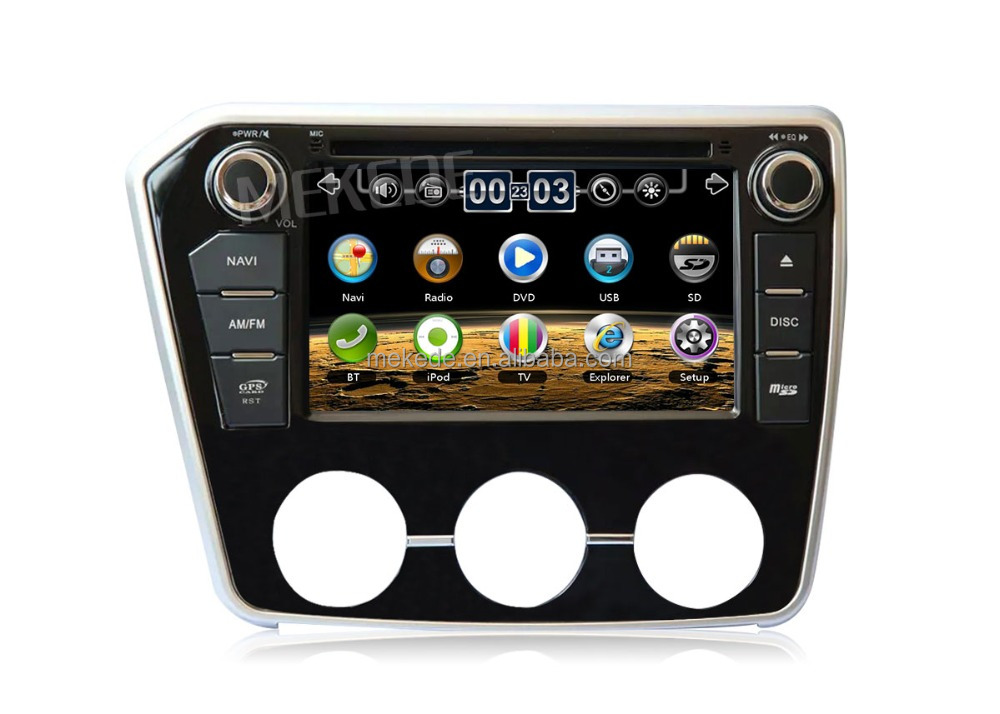 MEKEDE Latest wholesale car dvd player gps navigator for Soueast V3 2015 with Bluetooth radio Ipod ATV
