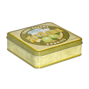 OEM Promotional Food Packaging Square Biscuit Tin Can high-quality Metal Cookie Tin Box